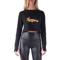 Load image into Gallery viewer, Swagg Royalty APPAREL PREMIUM LONG SLEEVE CROP TOP - WOMEN'S SLIM FIT