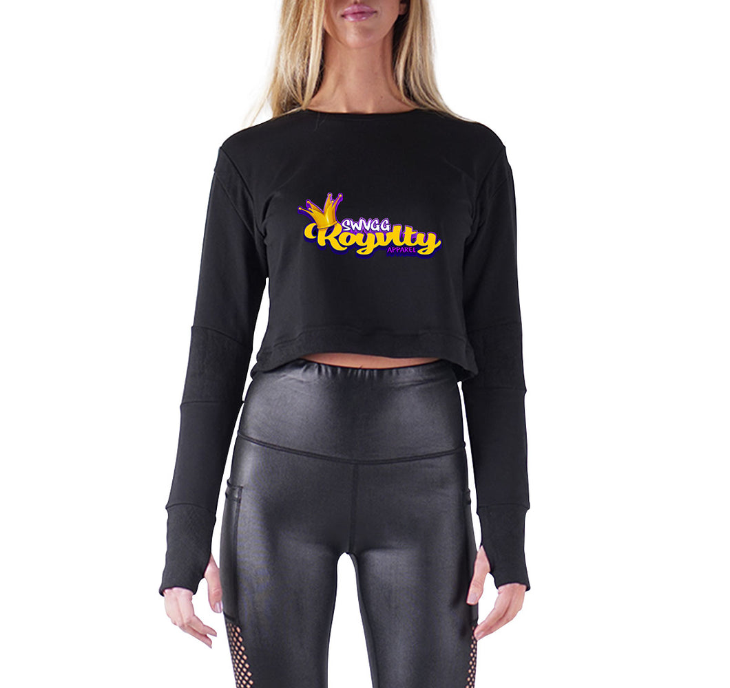 Swagg Royalty APPAREL PREMIUM LONG SLEEVE CROP TOP - WOMEN'S SLIM FIT