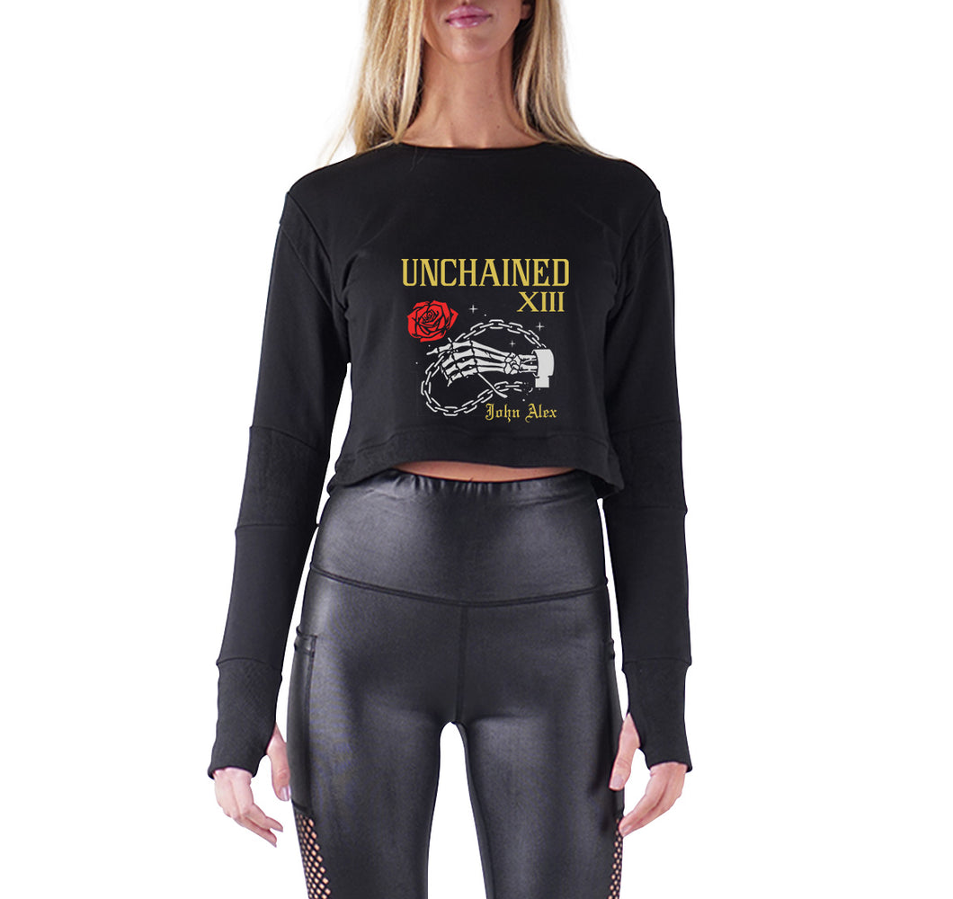 UNCHAINED APPAREL PREMIUM LONG SLEEVE CROP TOP - WOMEN'S SLIM FIT