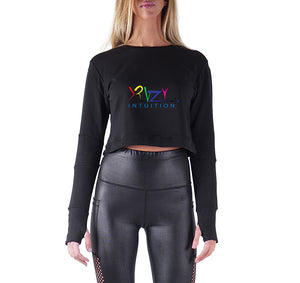 KRAZY INTUITION APPAREL PREMIUM LONG SLEEVE CROP TOP - WOMEN'S SLIM FIT