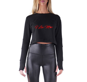 ILUVMOI APPAREL PREMIUM LONG SLEEVE CROP TOP - WOMEN'S SLIM FIT