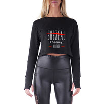 Load image into Gallery viewer, BREZEAL CHARNEY APPAREL PREMIUM LONG SLEEVE CROP TOP - WOMEN'S SLIM FIT