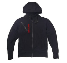 Load image into Gallery viewer, BLACK ROSE PREMIUM SIDE ZIPPER HOODY - UNISEX