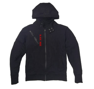 BLACK ROSE PREMIUM SIDE ZIPPER HOODY - UNISEX