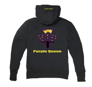 PURPLE QUEEN PREMIUM SIDE ZIPPER HOODY - UNISEX