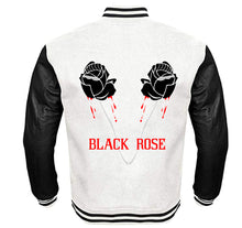 Load image into Gallery viewer, BLACK ROSE VARSITY PERFORMANCE FLEECE LEATHER SLEEVE