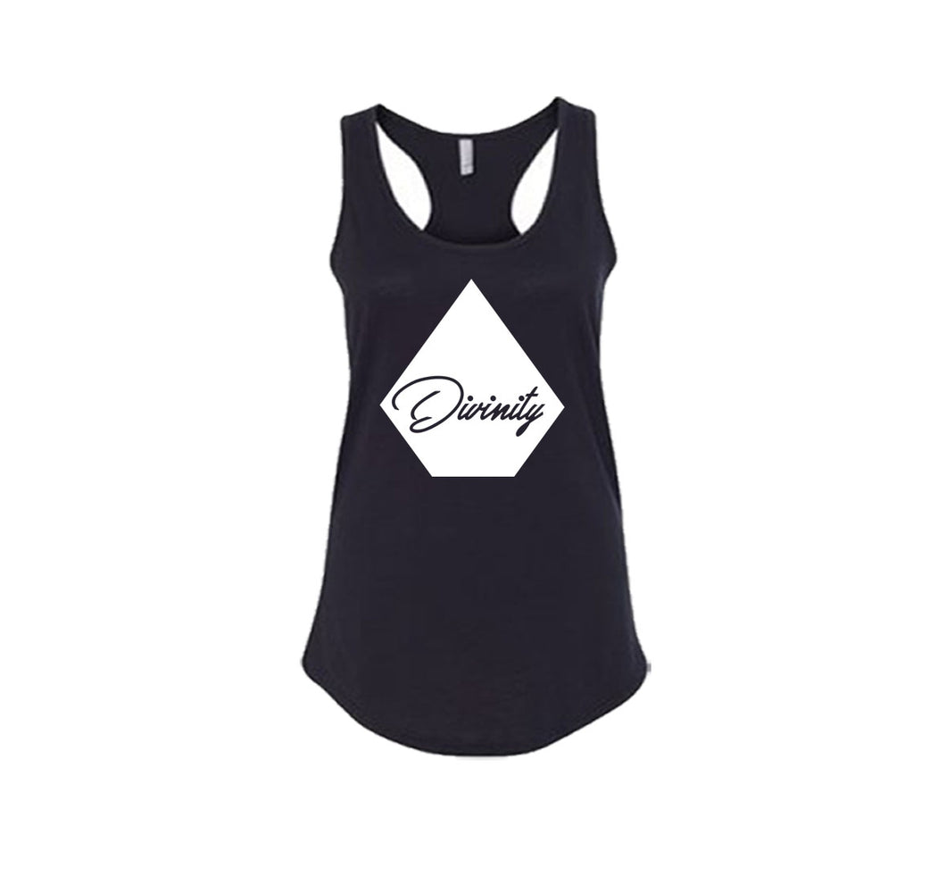 DIVINITY APPAREL PREMIUM RACER BACK TANK TOP - WOMEN'S SLIM FIT