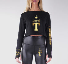Load image into Gallery viewer, LOYAL T APPAREL PREMIUM LONG SLEEVE CROP TOP - WOMEN'S SLIM FIT