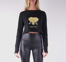 Load image into Gallery viewer, DIMIOURGIKO PREMIUM LONG SLEEVE CROP TOP - WOMEN'S SLIM FIT