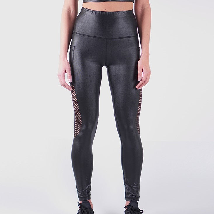 STORM LIQUID LEGGINGS - BLACK