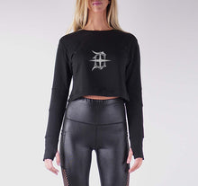 Load image into Gallery viewer, DETROIT PREMIUM LONG SLEEVE CROP TOP - WOMEN'S SLIM FIT