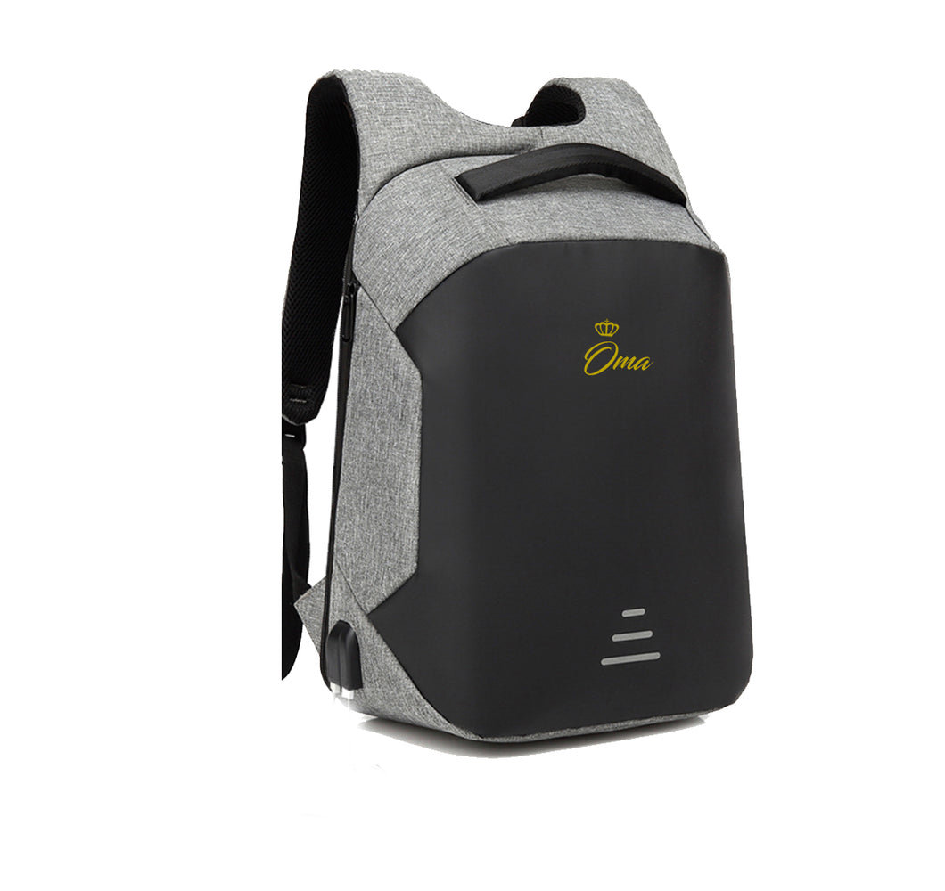 OMA HARD SHELL BACKPACK w/ BATTERY SUPPORT