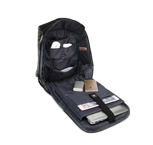 JUST KICKIN IT APPAREL HARD SHELL BACKPACK w/ BATTERY SUPPORT