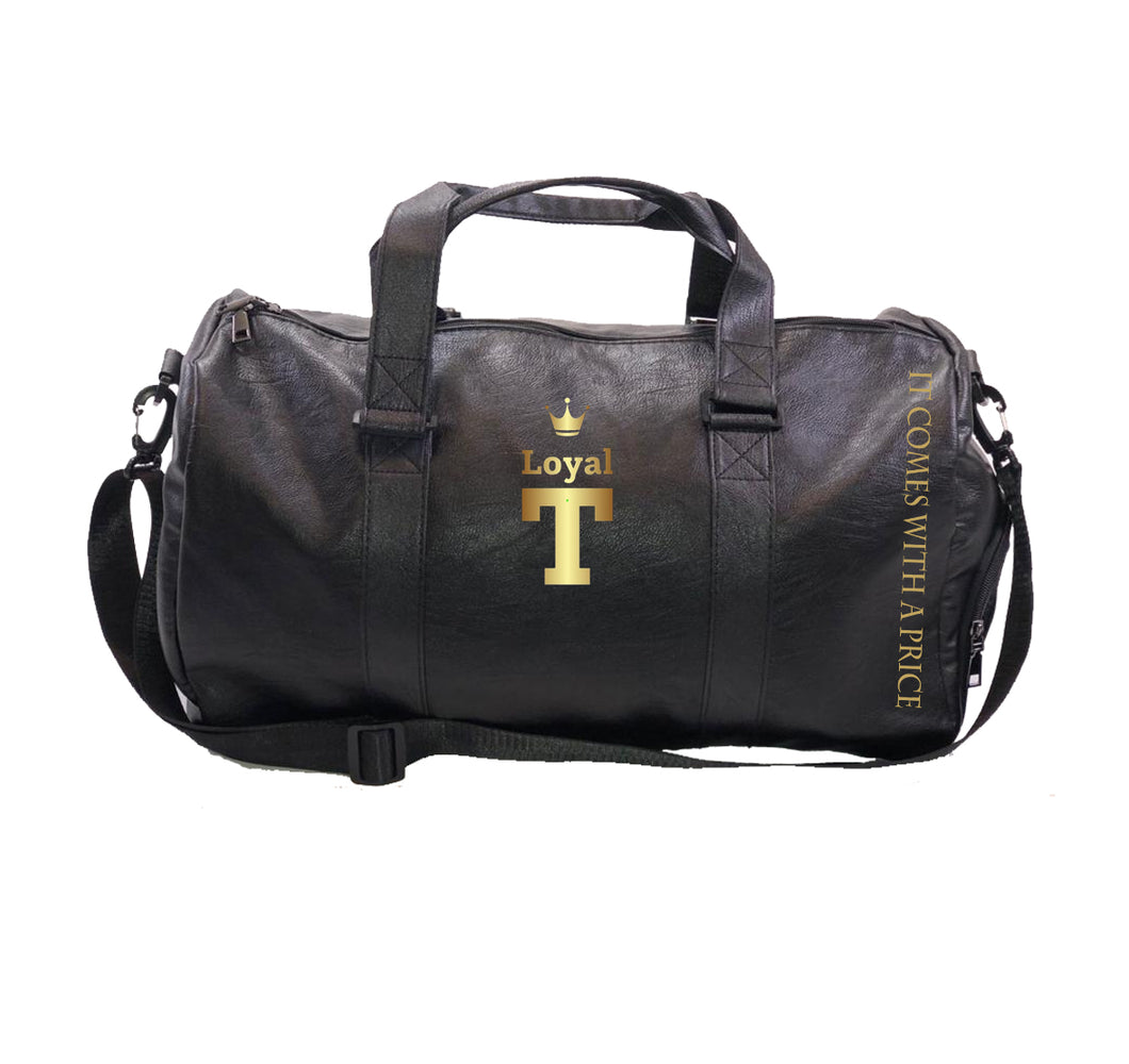 LOYAL T Apparel Vegan Leather Duffel Bag w/ Side pockets