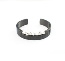 Load image into Gallery viewer, BAD GENES BRACELET STAINLESS STEEL w/LEATHER & ONYX BEADS