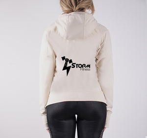 STORM LIGHTWEIGHT FRENCH TERRY HOODY - CREAM