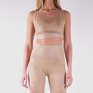 ILARIA LIQUID SPORT TOP - GOLD