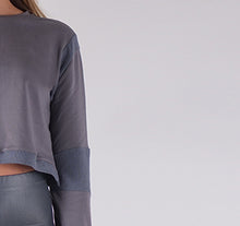 Load image into Gallery viewer, EENHEID APPAREL PREMIUM LONG SLEEVE CROP TOP - WOMEN'S SLIM FIT