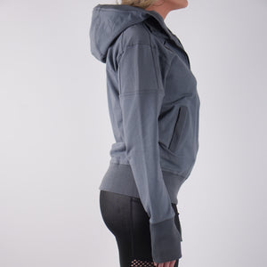 GRAZIANA LIGHTWEIGHT FRENCH TERRY HOODY - GREY