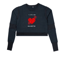 Load image into Gallery viewer, LOVE SWEATS PREMIUM LONG SLEEVE CROP TOP - WOMEN'S SLIM FIT