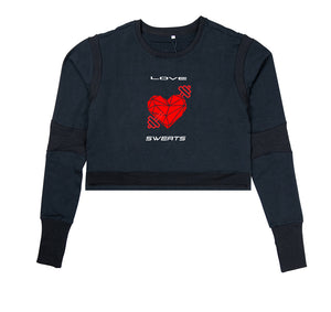 LOVE SWEATS PREMIUM LONG SLEEVE CROP TOP - WOMEN'S SLIM FIT