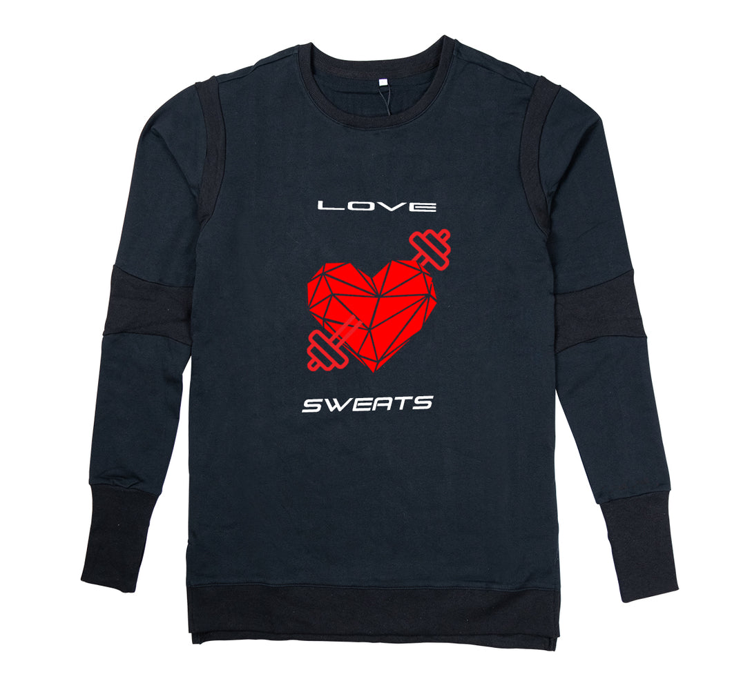 LOVE SWEATS PREMIUM LONG SLEEVE SHIRT - MEN'S SLIM FIT