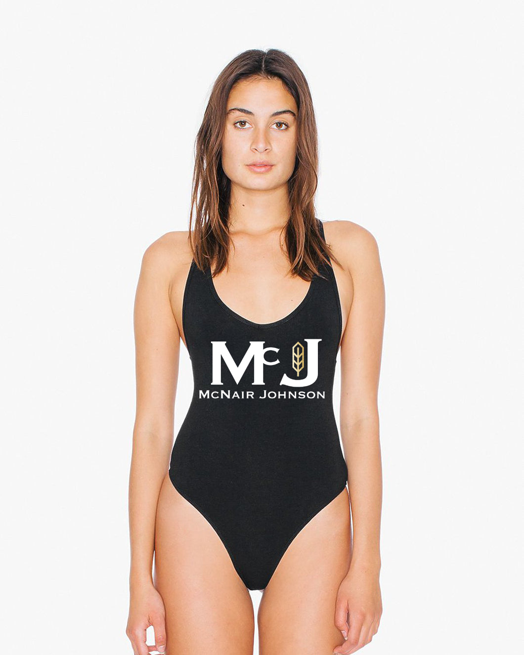 MC NAIR JOHNSON APPAREL BLACK BATHING SUIT