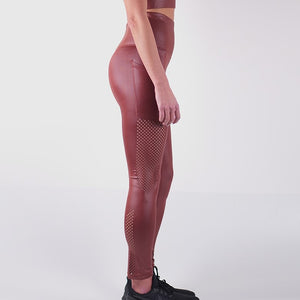 ILARIA LIQUID LEGGINGS - CLAY