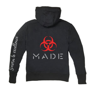 MADE APPAREL PREMIUM SIDE ZIPPER HOODY - UNISEX