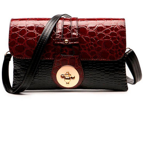 Crocodile Pattern Women Messenger Handbags