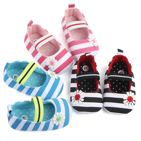 Newborn Baby Girls Canvas Shoes Anti-slip
