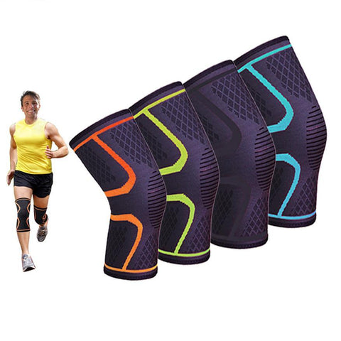 1 pc Knee Pad for Basketball Badminton Running Hiking High Elasticity Breathable Knee Protector Knee Support