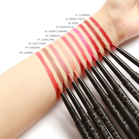 Newest Professional Matte Pencil Lip Liner Waterproof Long Lasting