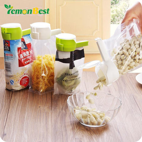 1 Pc Food Storage Bag Seal Clip Food Sealing Clamp Discharge Nozzle Kitchen Tools