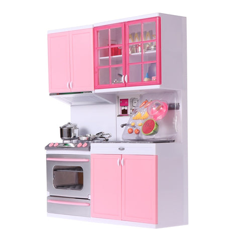 Plastic Kitchenware Toy Playing Games with House Set for Kids