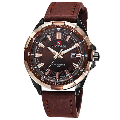 Casual Fashion Quartz Sports Watch with Leather Strap