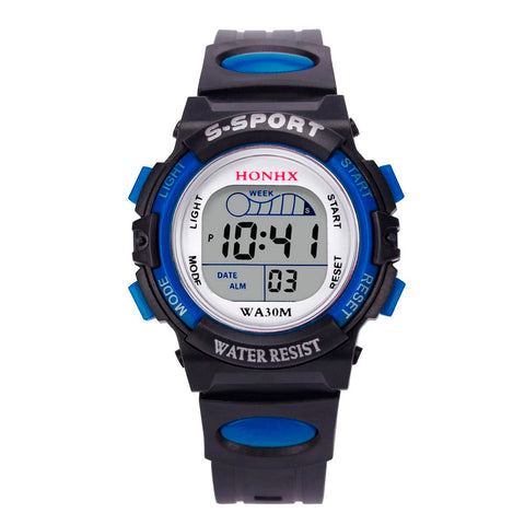 Waterproof Children Watch Boys Girls LED Digital Sports Silicone Rubber