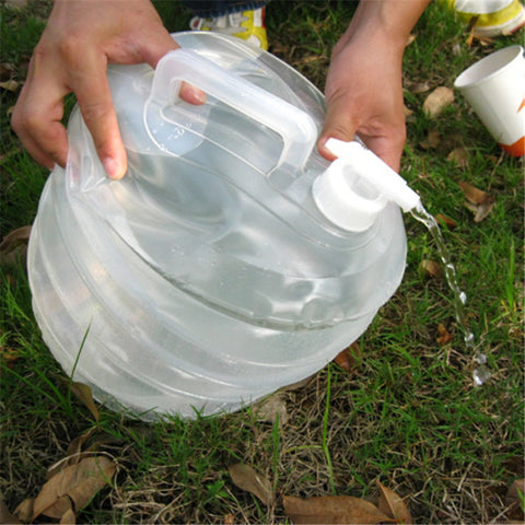 10L Water Bag Bucket Hiking Fishing Picnic Handy Collapsible Foldable Water Bottle Camping Travel Kit Water Container