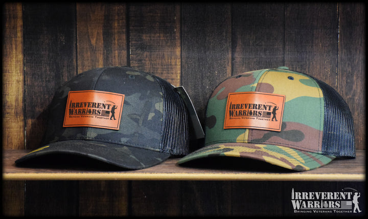 IW Bringing Vets Leather Camo Snap Back