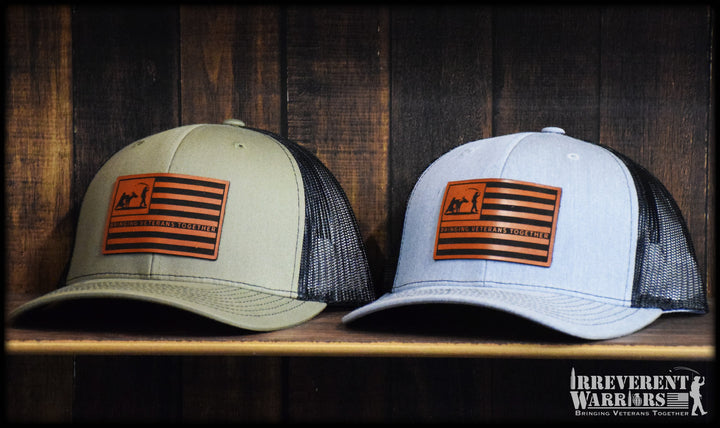 Donkey Grenade Flag Leather Patch Snap Back
