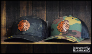 IW Circle Leather Camo Snap Back
