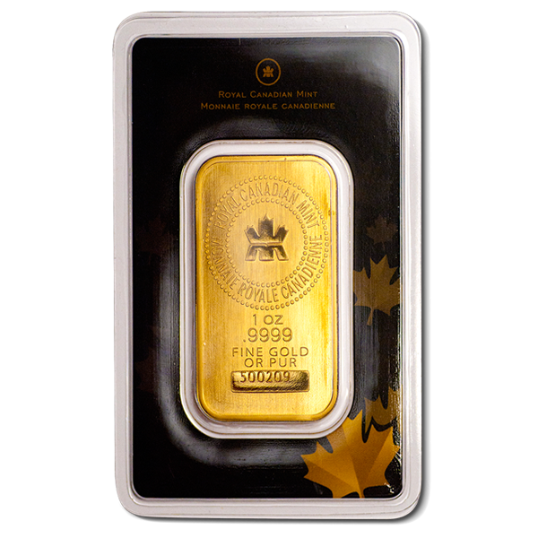 1 Oz Royal Canadian Mint Gold Bar (Sealed In Assay Card)