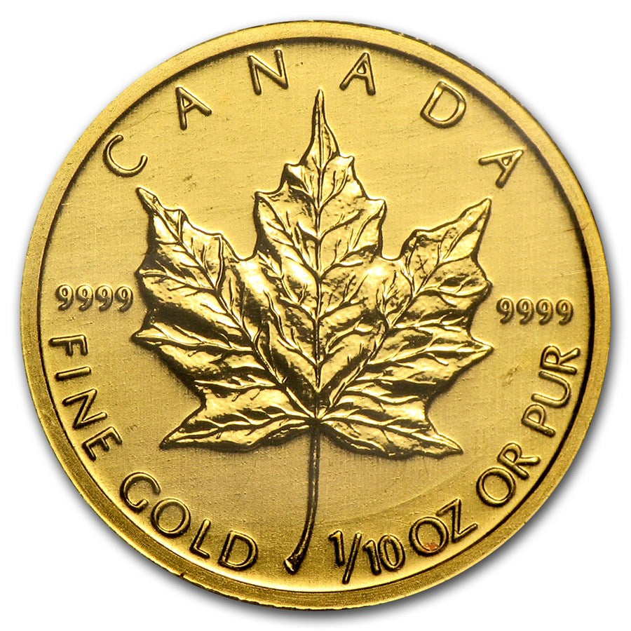 1/10 Maple Leaf Gold Coin-Random Year