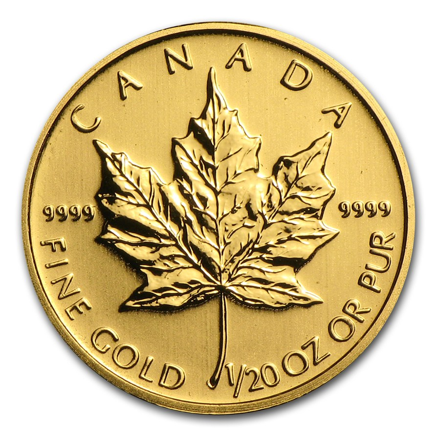 1/20 Oz Maple Leaf Gold Coin-Random Year