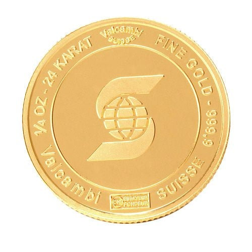 Gold Round Bar | 1/4 oz | Scotiabank - Valcambi