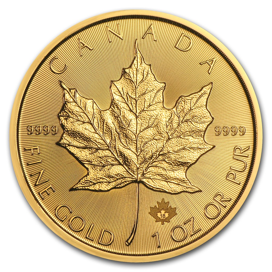 1 oz Gold Maple Leaf Coin .9999-2018