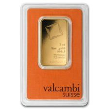 1 oz Valcambi Suisse Gold Bar- .9999