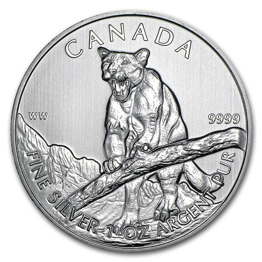 2012 Cougar Canadian Silver Coin