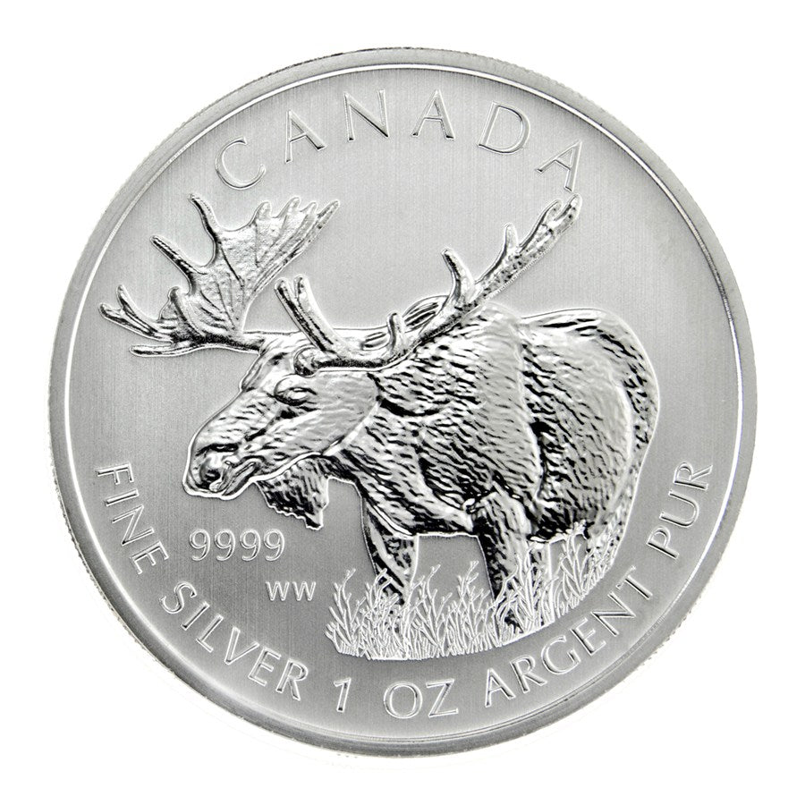 2012 Moose Canadian Silver Coin