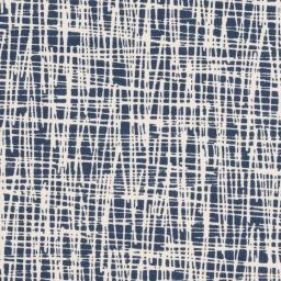 Vera Criss Cross Denim Blue Cotton Jersey Fabric